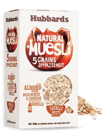 Hubbards 营养早餐燕麦片 590g 5种谷粒添加 榛子搭配 营养丰富