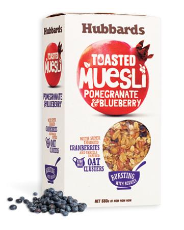 Hubbards 早餐麦片 石榴蓝莓口味 580克