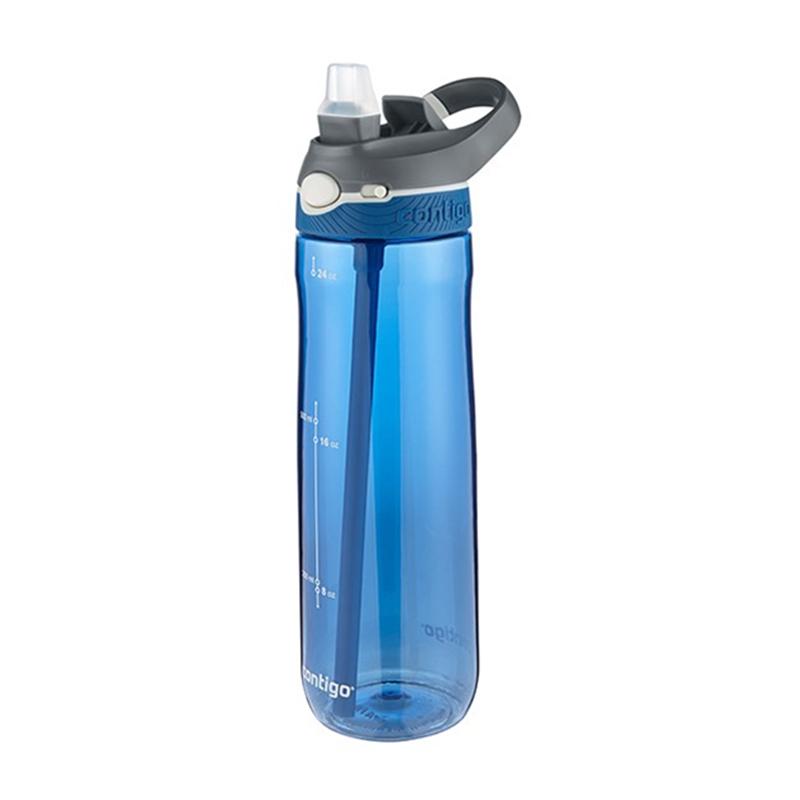Contigo 康迪克 Ashland 自动翻扣带锁 709 毫升 成人运动水壶 - 摩纳哥蓝色