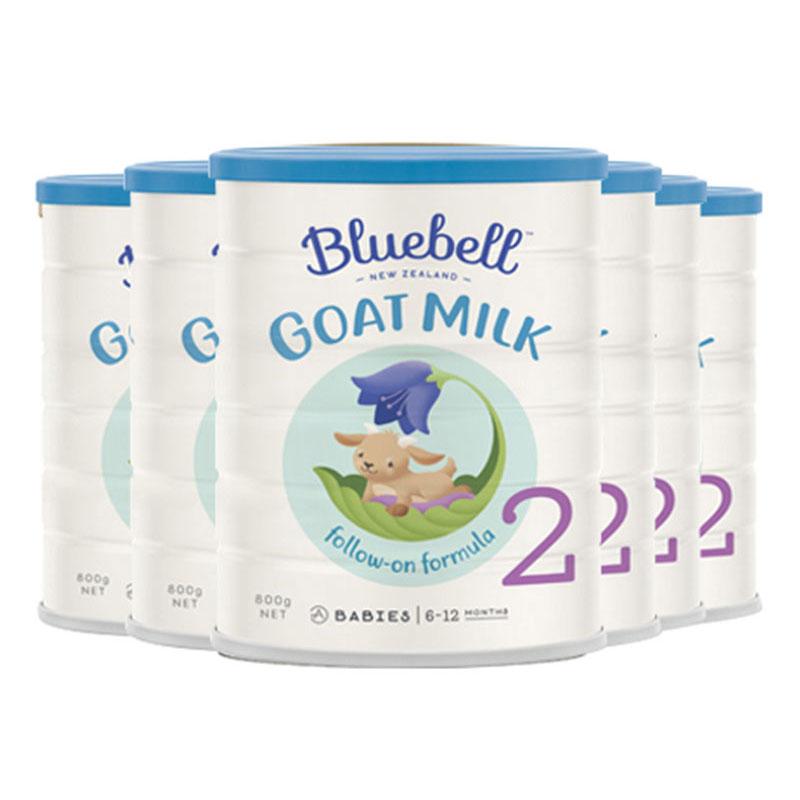 Bluebell 婴幼儿配方羊奶粉2段 800g*6罐  适合6-12个月宝宝