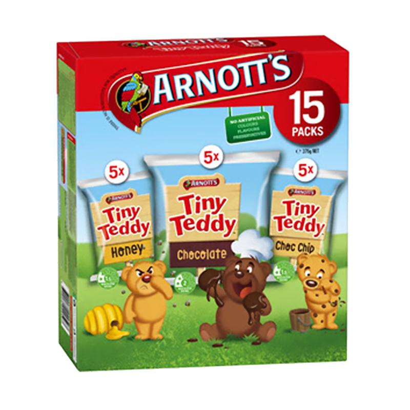 Arnott's Tiny Teddy 小泰迪饼干多口味混合装 375g