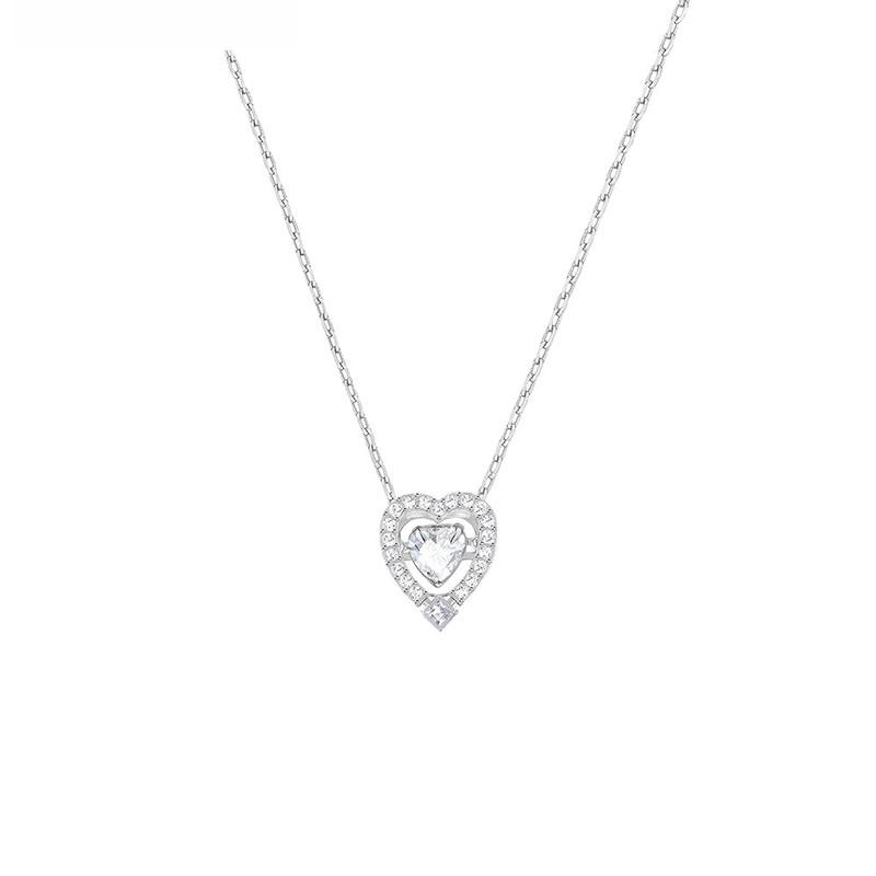 SWAROVSKI 施华洛世奇 跃动水晶心形项链 银色 5272365
