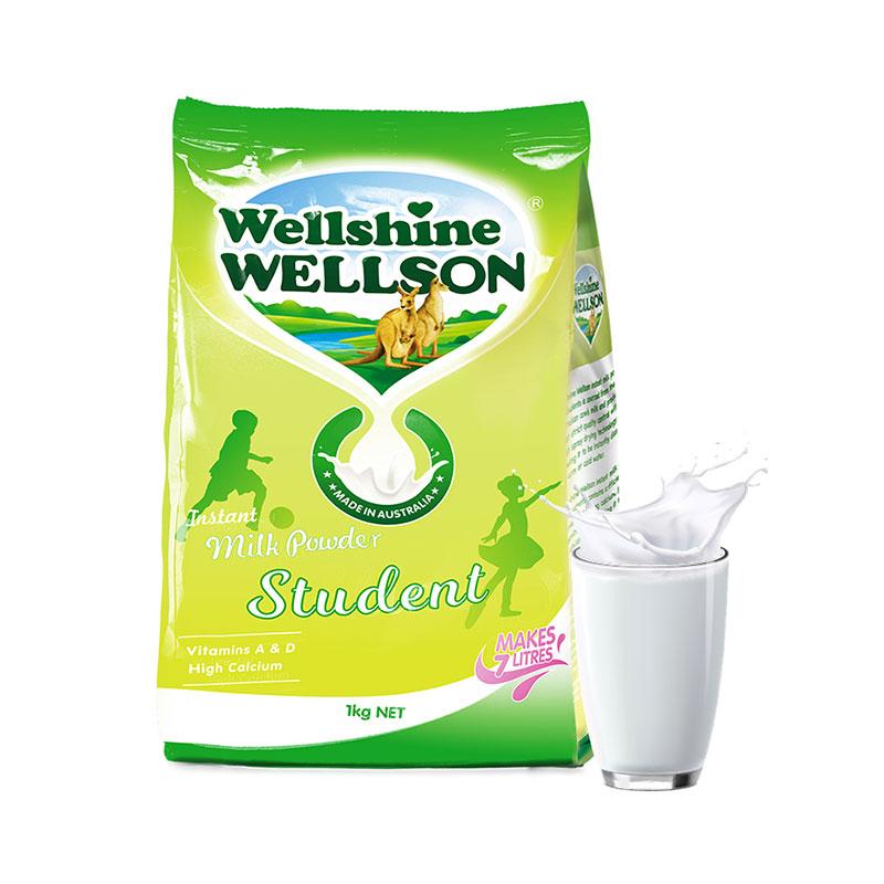 Wellshine 维尔生 早餐无糖学生高钙奶粉 1kg 3岁以上