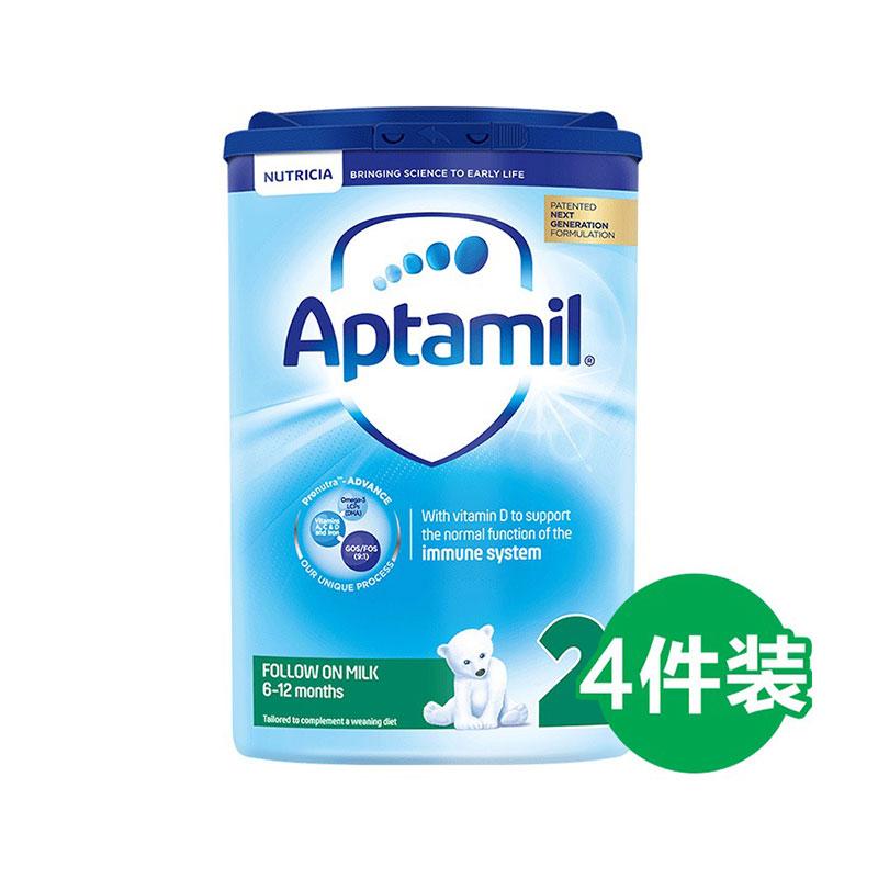 Aptamil 爱他美 婴儿配方奶粉 2段 800g*4罐 6-12个月