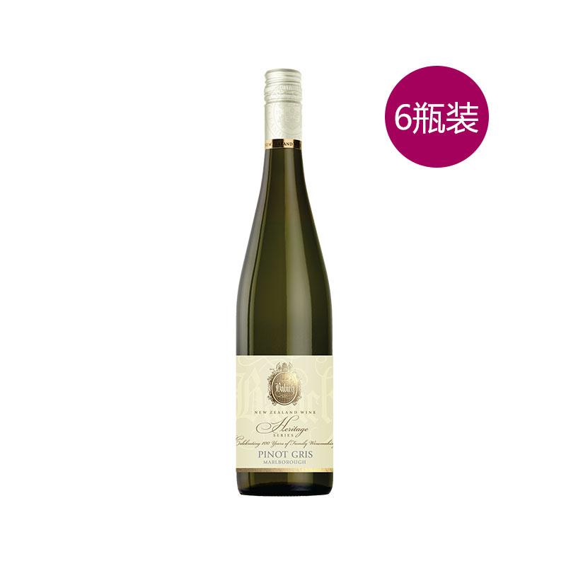 百祺 复古系列 马尔堡灰皮诺干白葡萄酒 750ml 12.5%vol 6瓶装