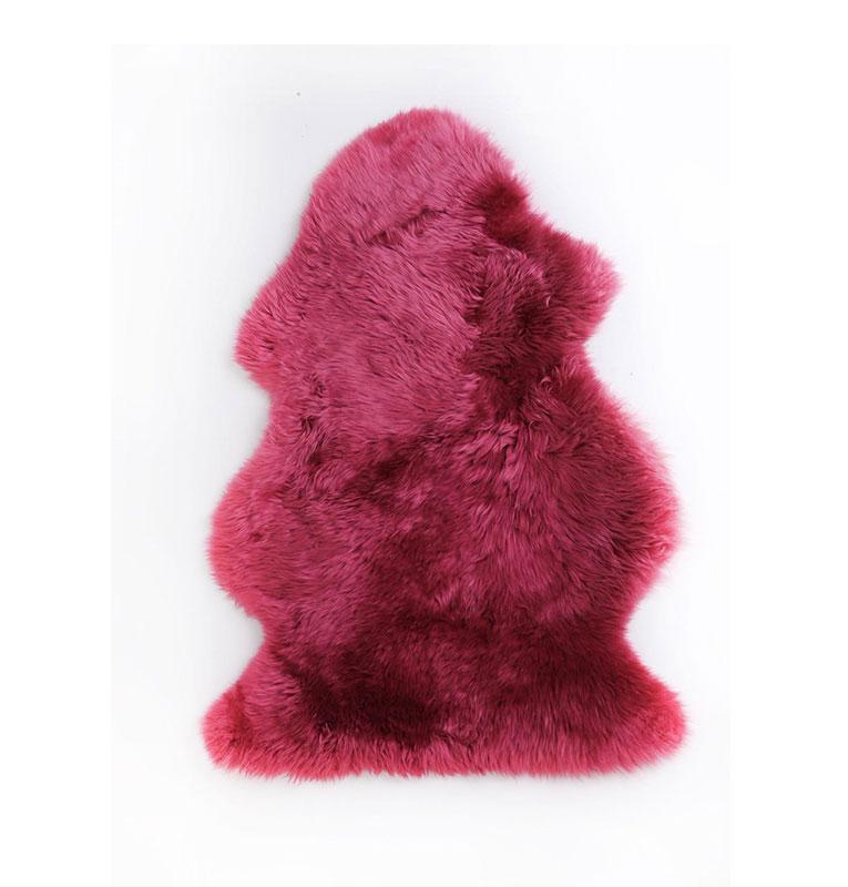 LITTLE AUSSIE 澳大利亚羊皮毯 浆果红
