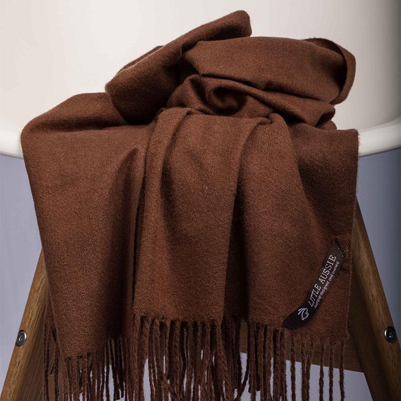LITTLE AUSSIE 羊毛围巾 可可色 200*70cm