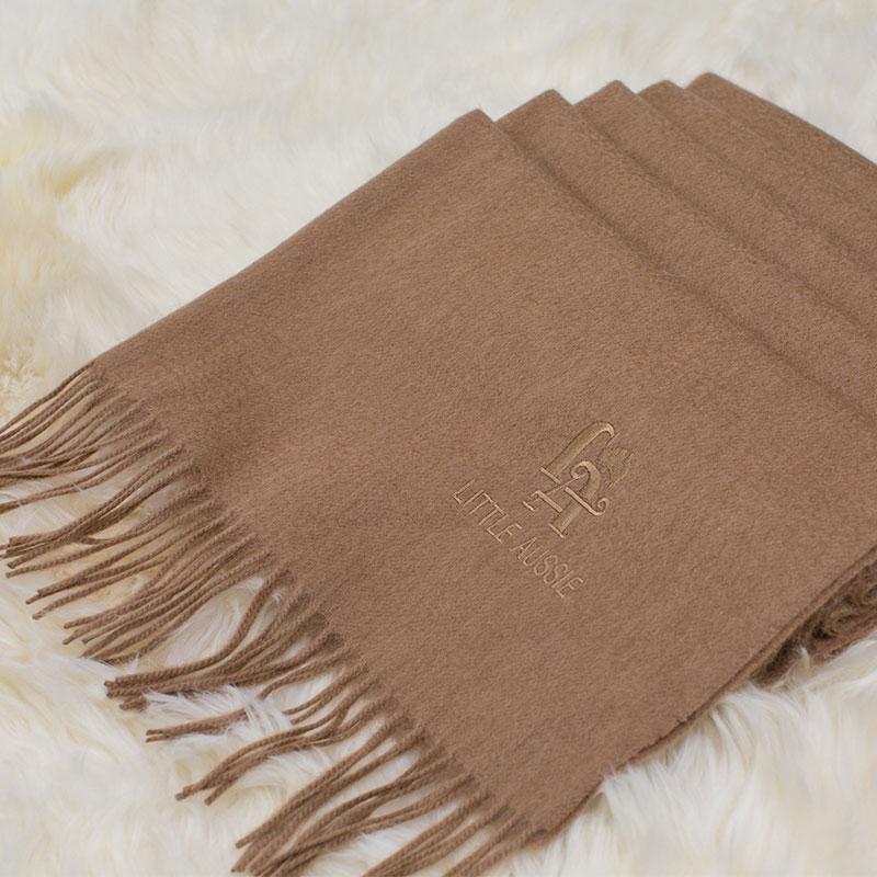 LITTLE AUSSIE 驼绒围巾 驼色 200*70cm