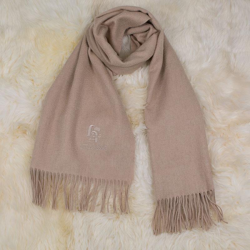 LITTLE AUSSIE 驼绒围巾 米白色 180*30cm
