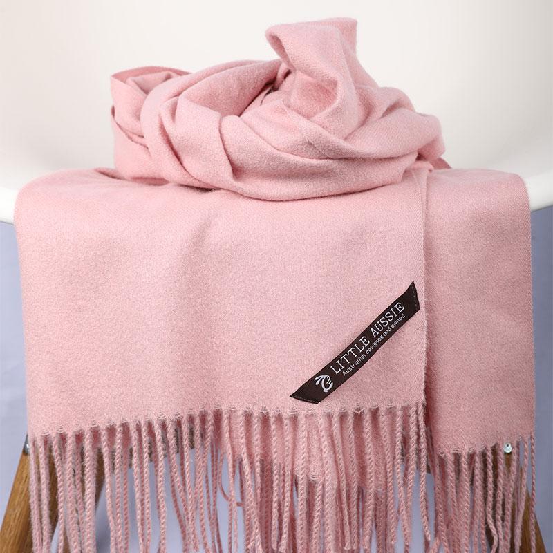 LITTLE AUSSIE 羊毛围巾 宝宝粉色 200*70cm