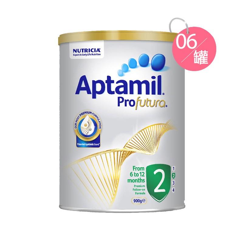 Aptamil 爱他美铂金装牛奶粉 2段 900克*6罐装
