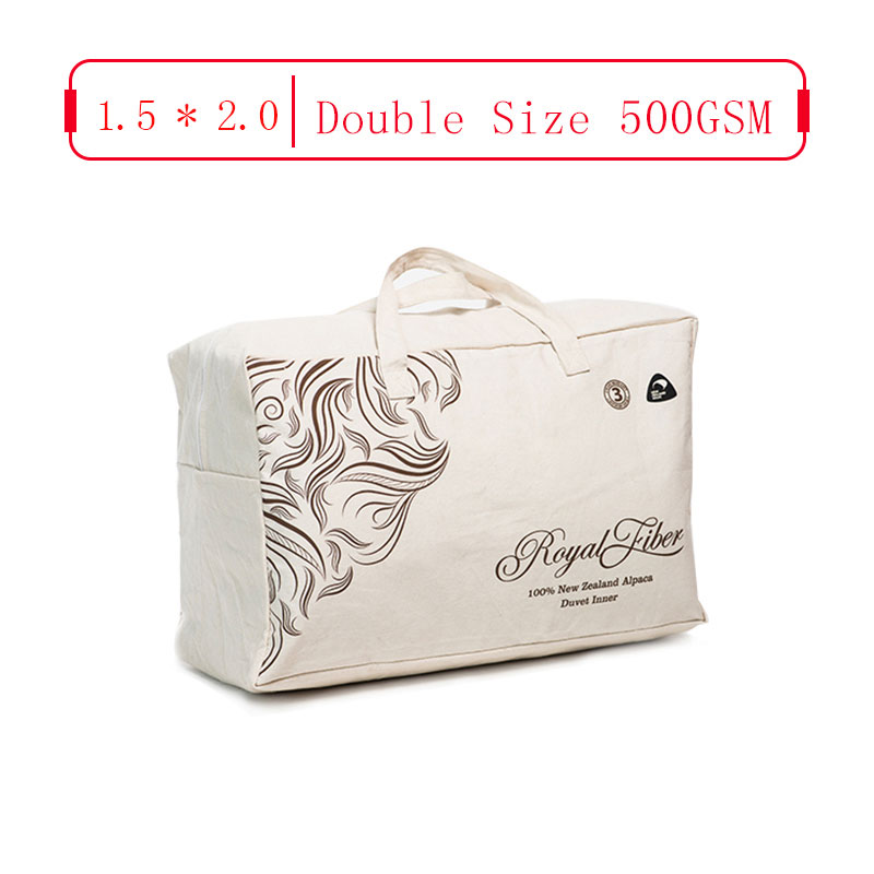 Royal Fiber 冬季驼羊被 500GSM 防雨面料 Chinese Single Size 1.5*2.0
