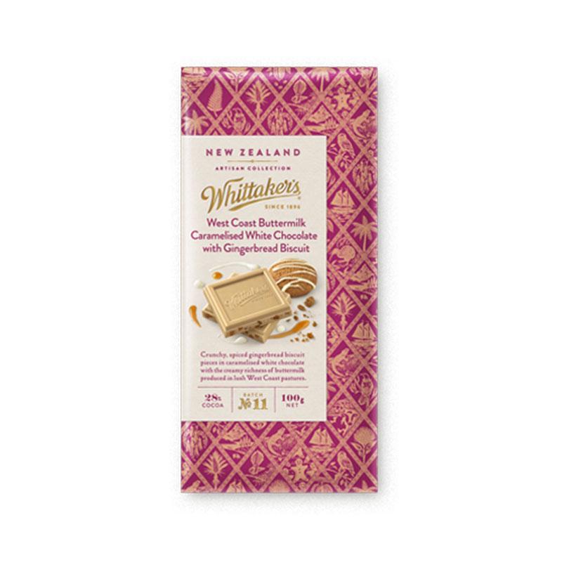Whittakers 惠特克 西海岸酪乳焦糖白巧克力 100g