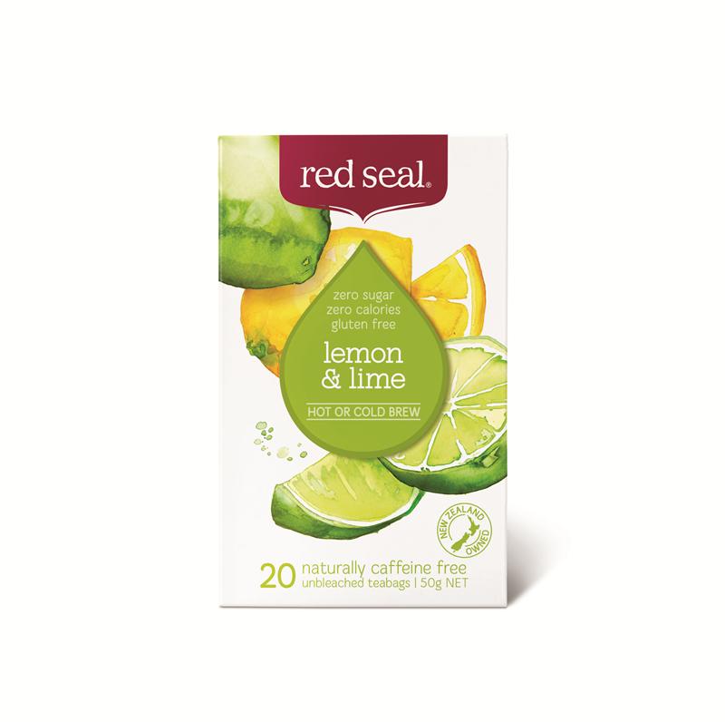 RED SEAL 红印 天然有机柠檬青柠茶 20袋 无糖分卡路里