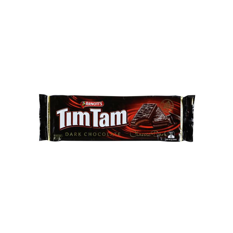 Arnotts TimTam 澳洲经典威化巧克力饼干 纯黑巧克力味 200克