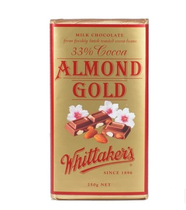 Whittakers 惠特克巧克力 天然有机烤杏仁味 250克