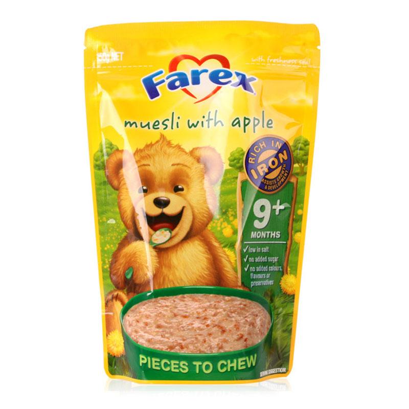 Farex 婴儿高铁米粉 9个月以上 150g 燕麦片苹果味