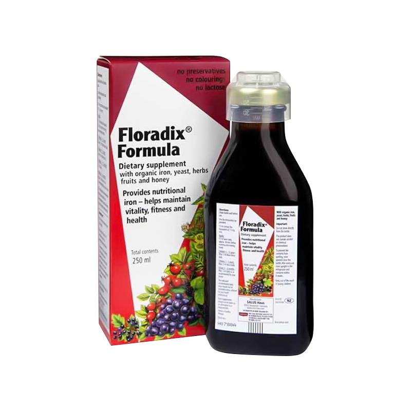Floradix 新西兰版纯天然有机液体铁补血口服液铁元 250ml