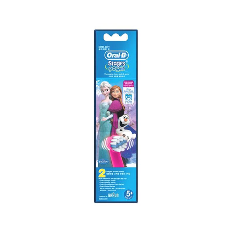 ORAL-B 欧乐B 儿童电动牙刷替换刷头2支 冰雪奇缘款