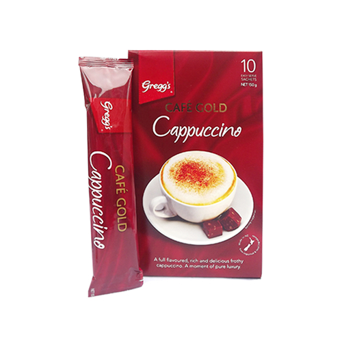 Greggs 金牌速溶咖啡卡布奇诺 10条150g 意式浓香 泡沫丰盈