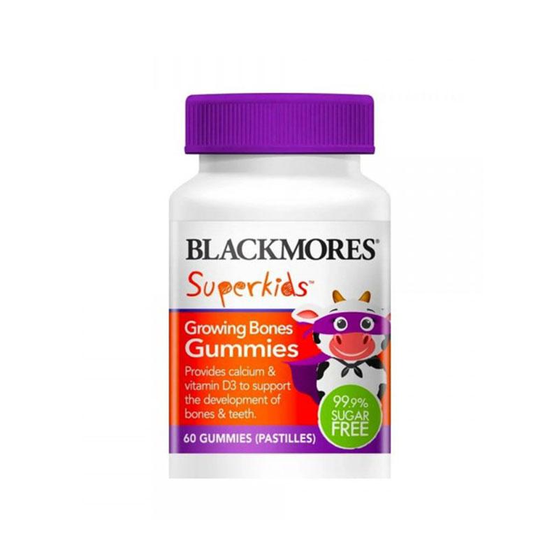 Blackmores 澳佳宝超级儿童钙+VD3软糖 60片(白瓶装)