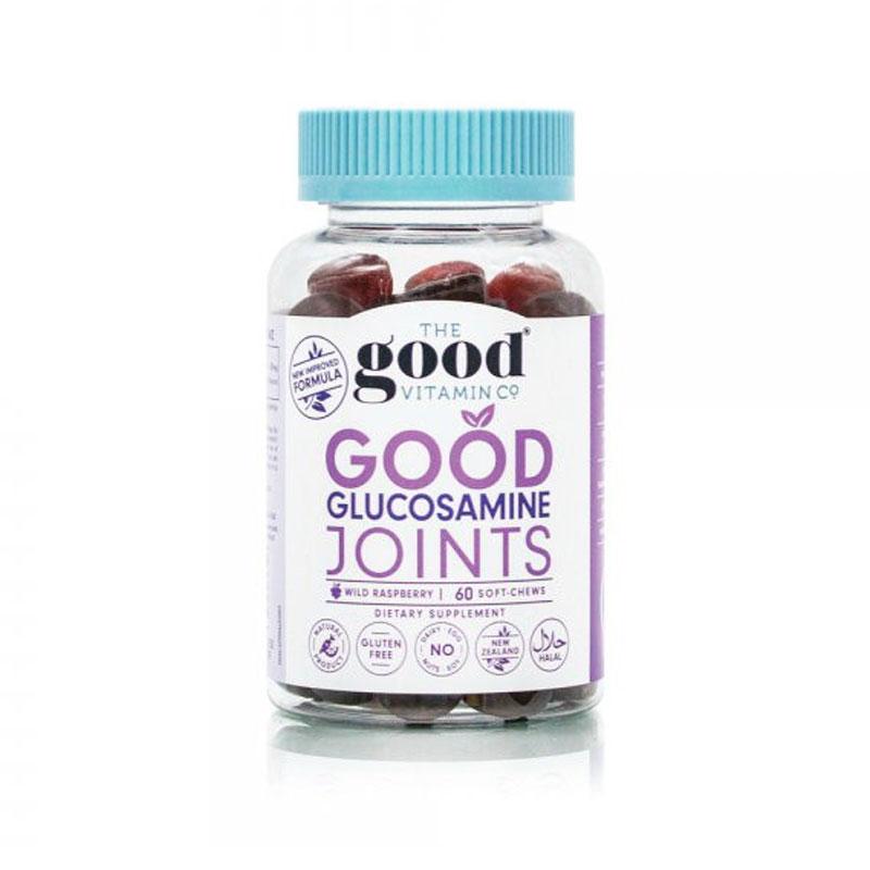 The Good Vitamin Co 成人氨基葡萄糖维骨力软糖 关节健康 覆盆子味 60粒