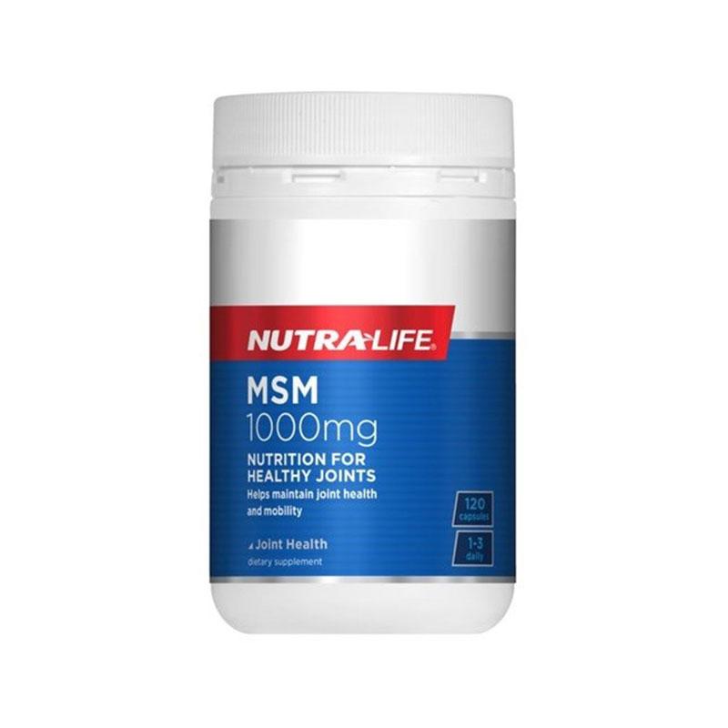 Nutralife 纽乐 有机硫强效关节止痛胶囊1000mg 120粒 缓解关节痛炎