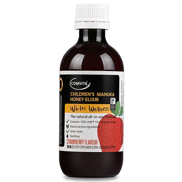 Comvita 康維他 天然有機兒童蜂蜜糖漿(草莓味) 200毫升 止咳