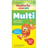 Healtheries 賀壽利 兒童綜合維生素及礦物質咀嚼片 60片