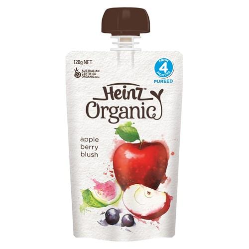 Heinz 嬰幼兒天然果泥 蘋果&漿果口味 120g 寶寶輔食 美味營養