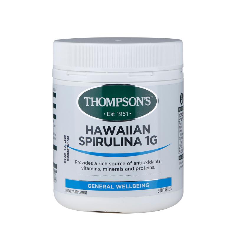 Thompson's 湯普森 高能螺旋藻 1000毫克 300片