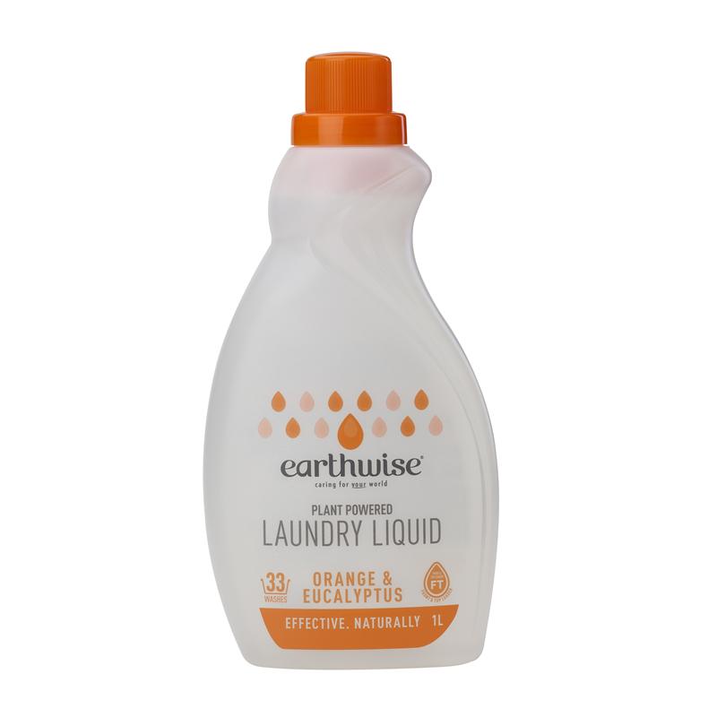 Earthwise 天然植物基底浓缩洗衣液1L 橘子尾叶桉