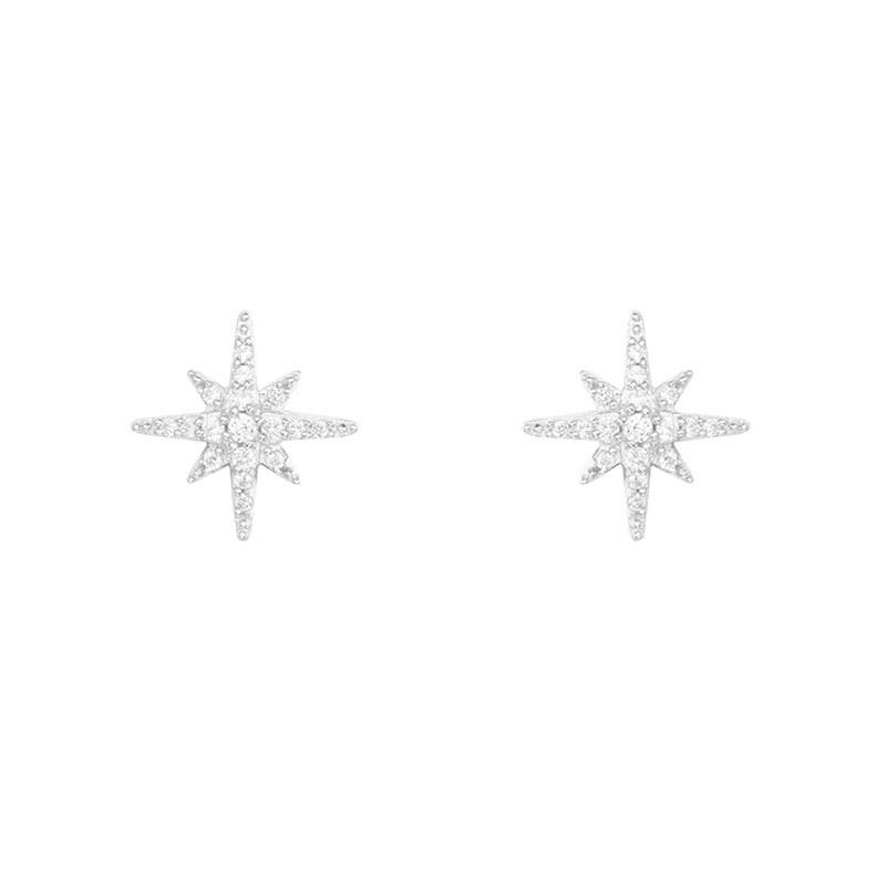APM 純銀鑲晶鉆耳釘 AE8419OX 帶盒子