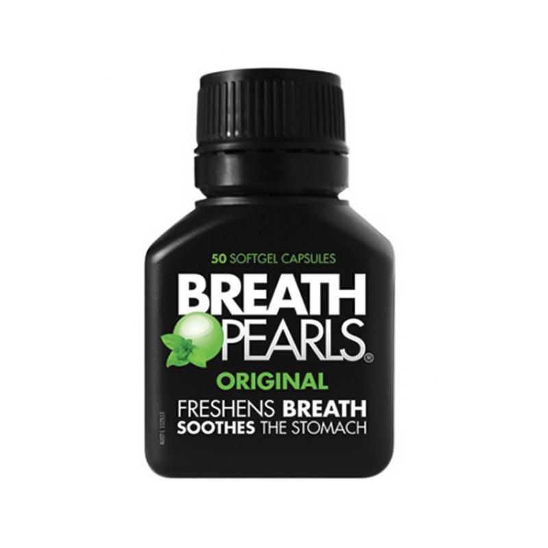 Breath Pearls 天然草本清新口氣爆珠 薄荷味 50粒 口氣清新丸