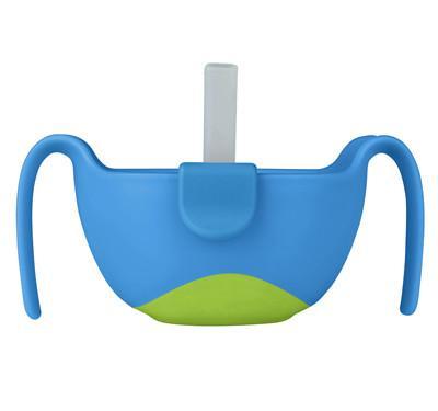 b.box 零食碗密封輔食碗餐具 天空藍 三合一碗