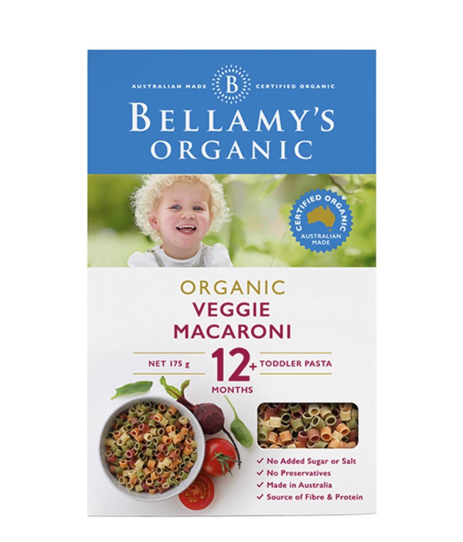 Bellamy's 貝拉米 有機蔬菜意面12+ 175g