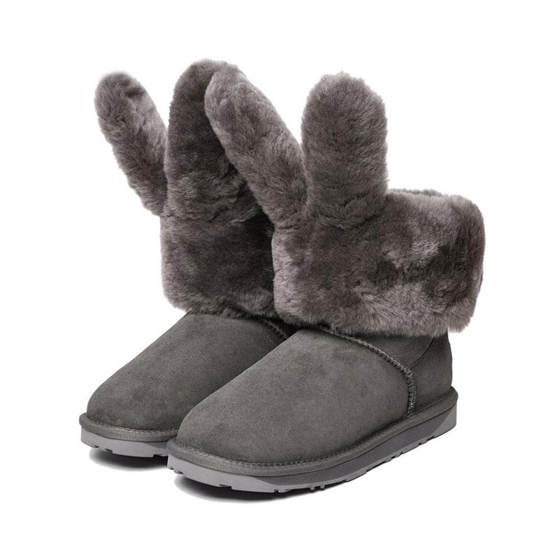 Everugg 兒童款雪地靴 邦尼兔 灰色