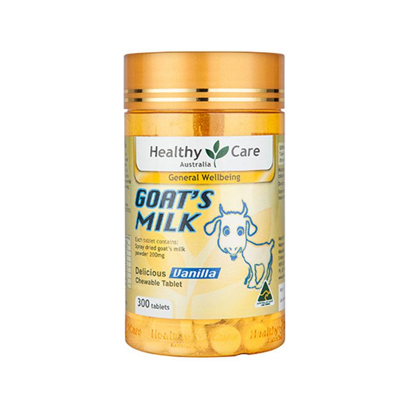 Healthy Care 山羊奶咀嚼片 香草味 300粒 兒童成人鈣片 孫儷代言