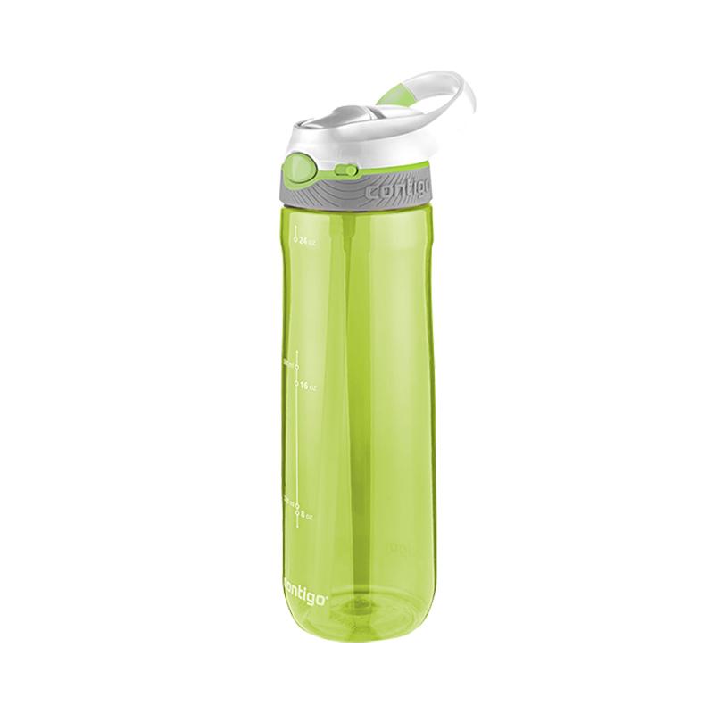 Contigo 康迪克 Ashland 自動翻扣帶鎖成人運動水壺綠色 709毫升