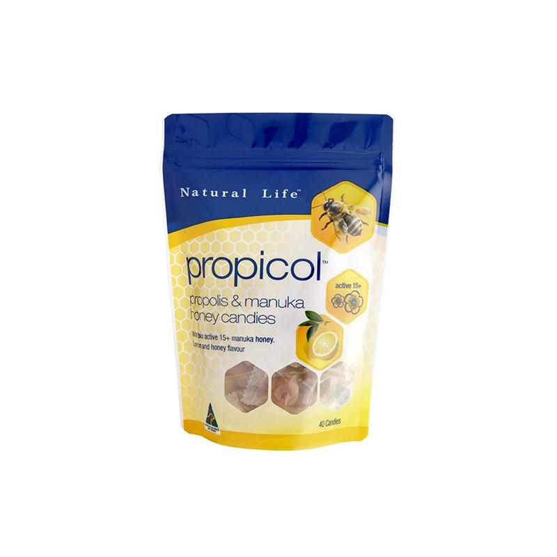 natural life 蜂膠糖 40顆 檸檬蜂蜜口味