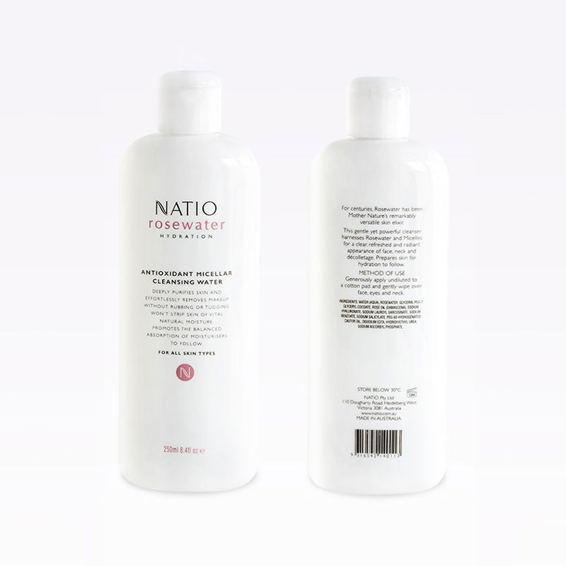 Natio 娜迪奧 玫瑰補水保濕系列 抗氧化卸妝水 250ml