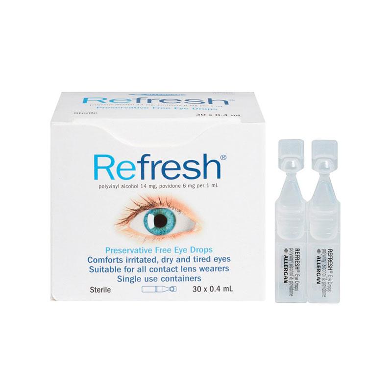 Refresh 人工泪液无防腐剂滴眼液 30*0.4ml缓解疲劳视力下降隐形