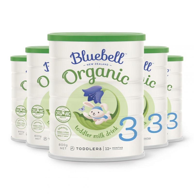 Bluebell 嬰幼兒配方有機牛奶粉3段 800g*6罐  適合12個月以上寶寶