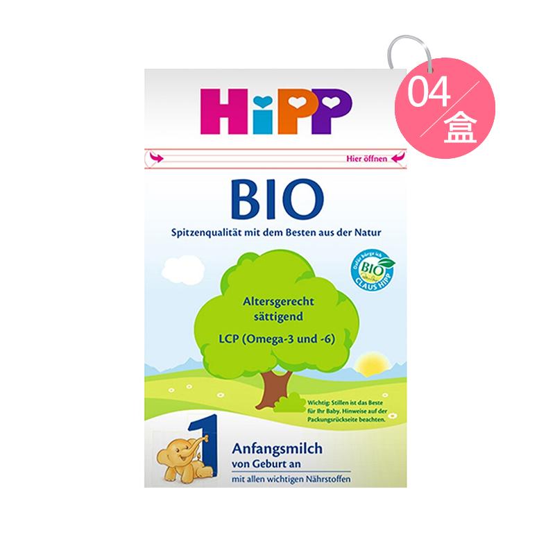 Hipp 喜寶 有機嬰幼兒配方奶粉 1段 600g*4 適合0-6個月寶寶
