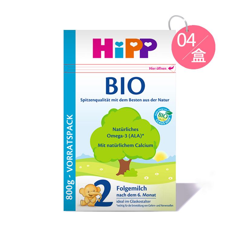 Hipp 喜寶 有機嬰幼兒配方奶粉 2段 800g*4 適合6-10個月寶寶