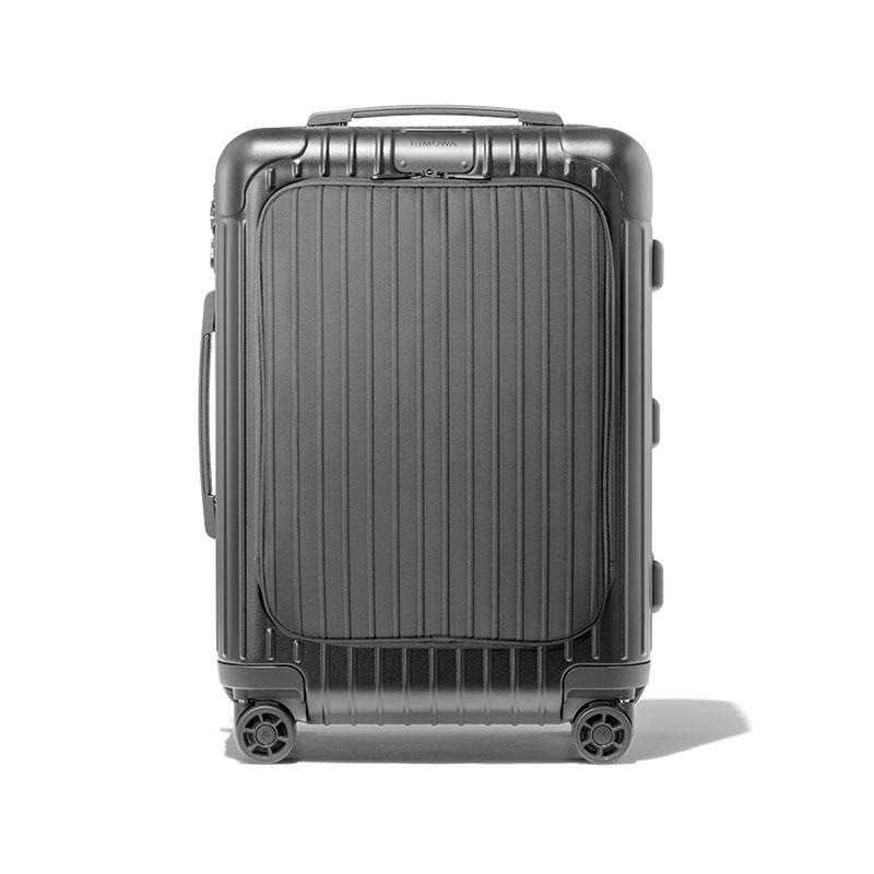 Rimowa 日默瓦 EssencialSleeve系列 塑膠拉桿行李箱 20寸 磨砂黑