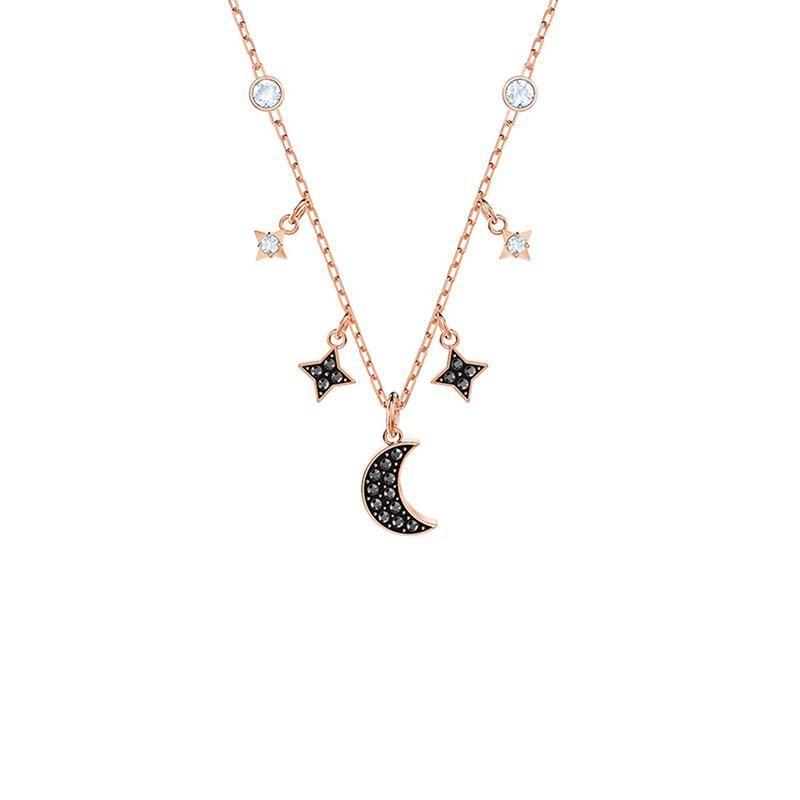 SWAROVSKI 施华洛世奇 新款DUO星月项链 5429737 浪漫星辰锁骨链