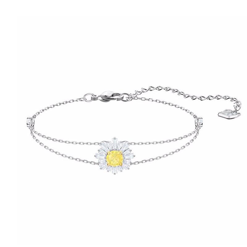 SWAROVSKI 施華洛世奇 Sunshine璀璨陽光手鏈 銀色 5459594 太陽花