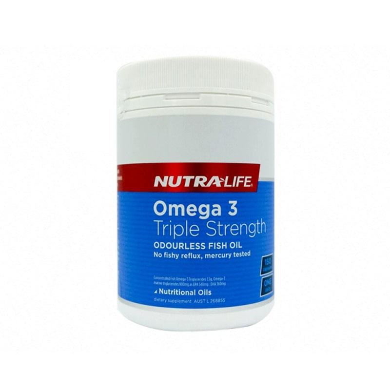 NutraLife 紐樂 三倍歐米茄3魚油 150粒