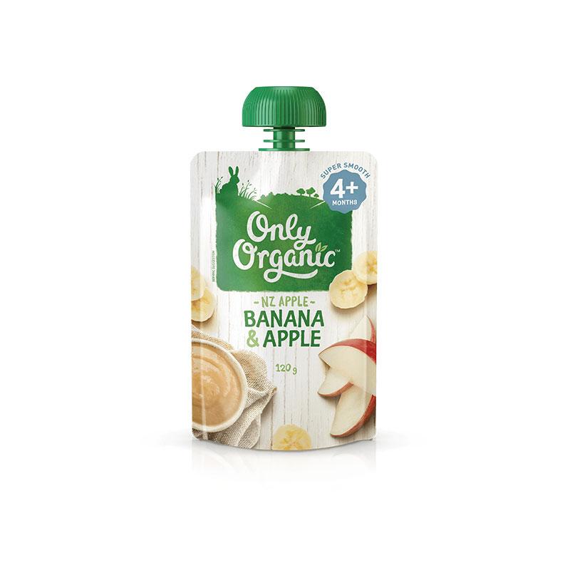 Only Organic 奧利有機嬰幼兒輔食 香蕉蘋果泥 120g